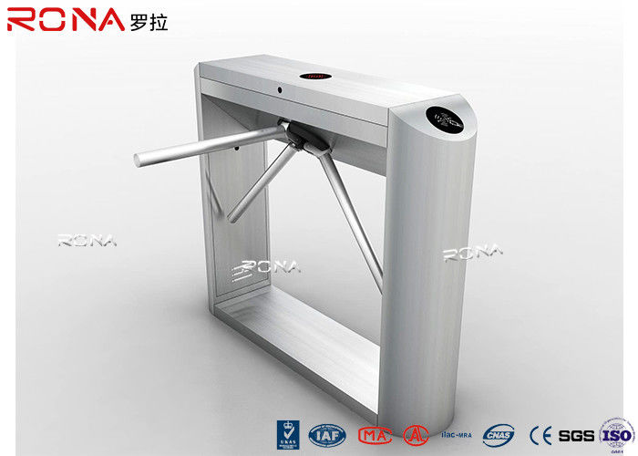 Fingerprint Reader Tripod Turnstile Gate RFID Flap Barrier 30 Persons / Min Speed